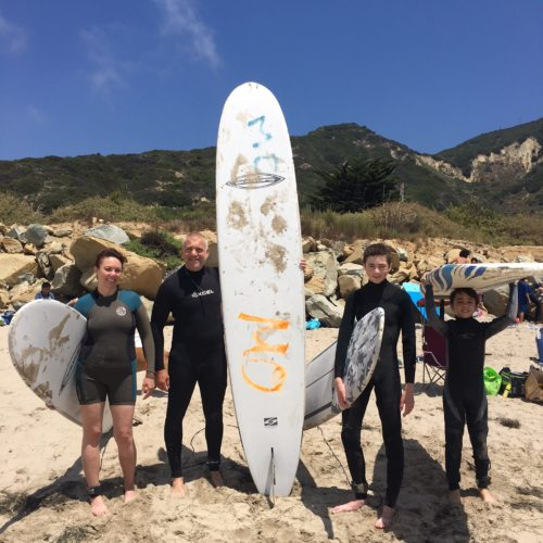 family surf getaway